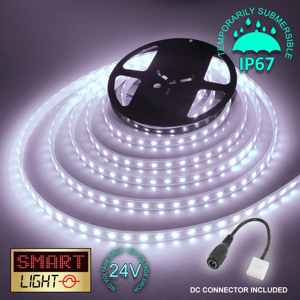 24-V-BIANCO-1M-20M-LED-Luce-Striscia-Nastro-Natale-Armadietto-Cucina-Illuminazione-Impermeabile miniatura 22