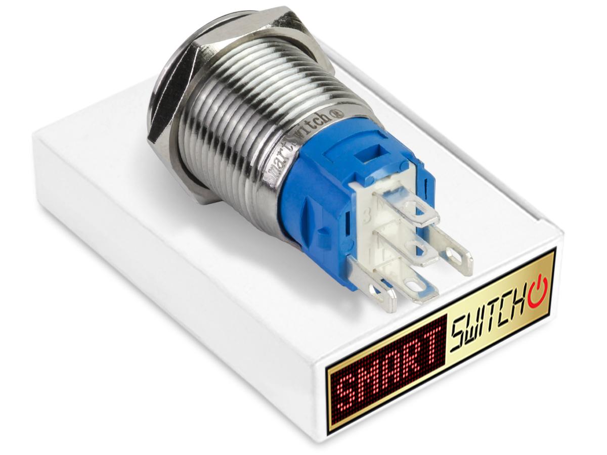 SmartSwitch-12V-24V-18mm-acier-IP67-led-lumineux-on-off-bouton-power-switch miniature 8